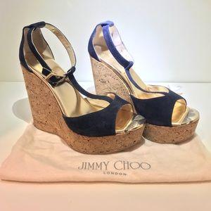 Jimmy Choo Suede Wedge